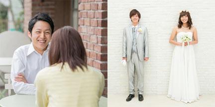 結婚相談所で出会い成婚したカップルの写真