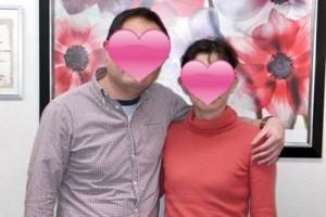 30代成婚カップルのツーショット写真