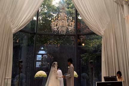 結婚式指輪の交換