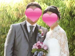 結婚式の夫婦写真