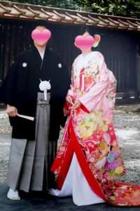 明治神宮で挙式の成婚カップル