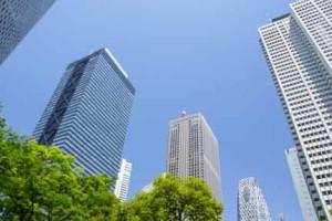 新宿新都心の超高層ビル
