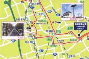 第5回さいたま国際マラソンコースマップ