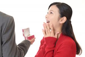 急なプロポーズにビックリする女性