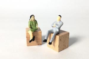 交際にけじめをつける男女