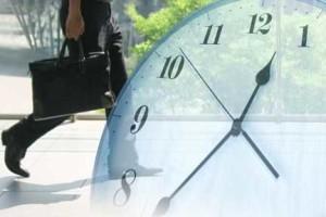 挑戦する人と時計