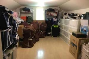 大掃除で綺麗になった屋根裏部屋
