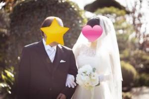 お父様と花嫁のツーショット